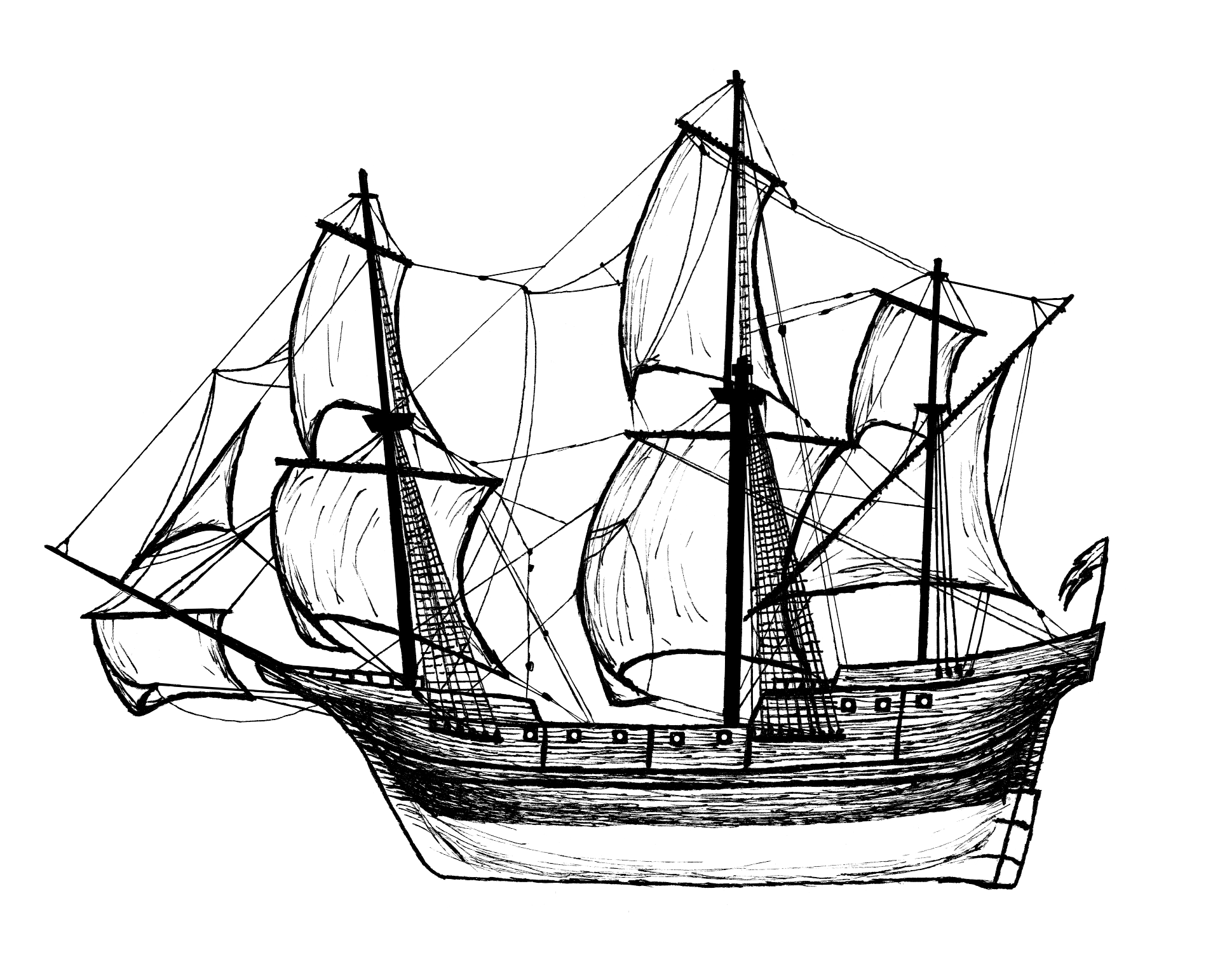 J. Gow Orkney Rum sailing ship image logo