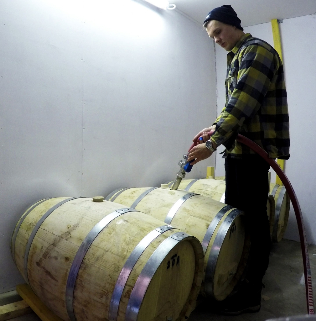 first rum barrels ever being filled in orkney