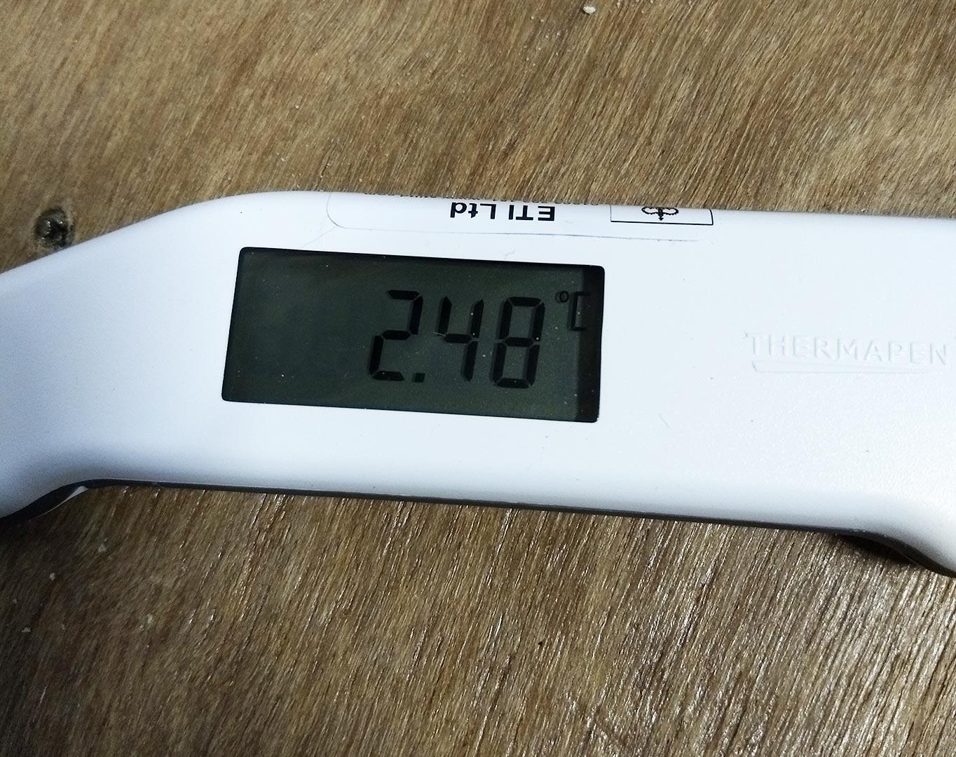 2.48°C inside distillery