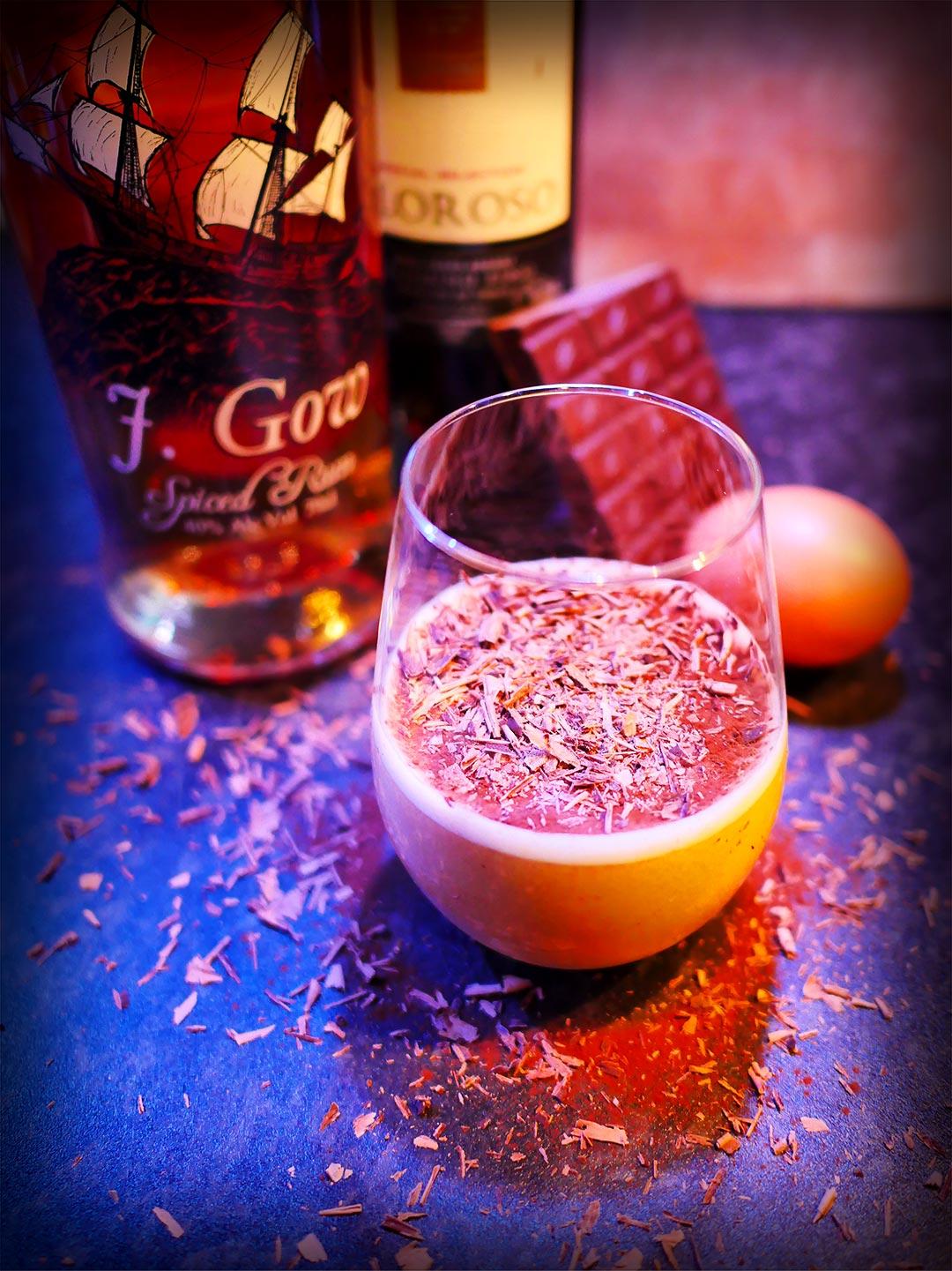 J Gow Rum & Maple Flip