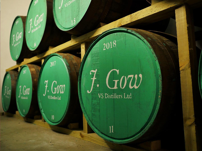 j gow rum barrels