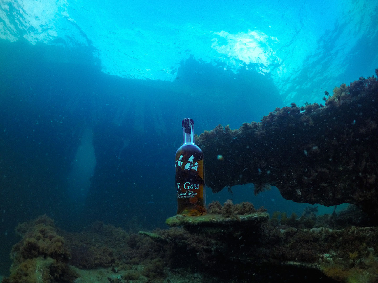 j gow rum on a ship wreck underwater photo freediver