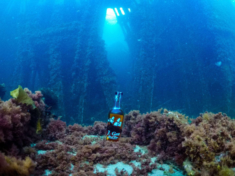 j gow spiced rum underwater