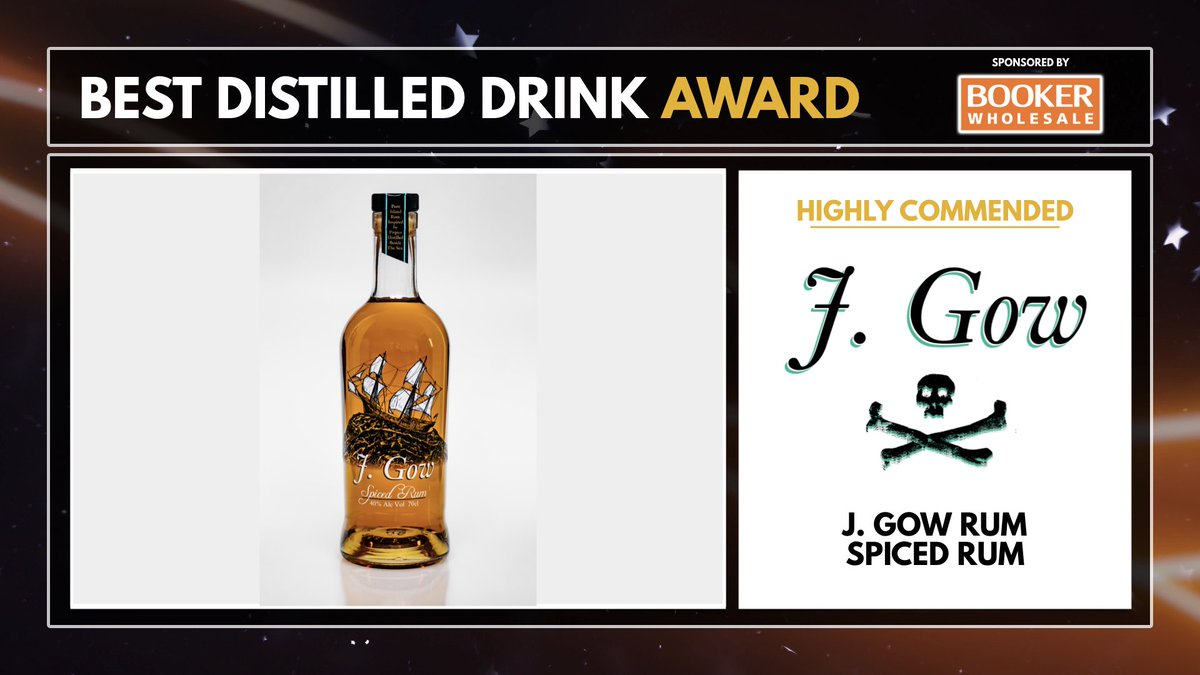 J Gow Rum HIFAD Awards best drink Highly Commended spiced rum