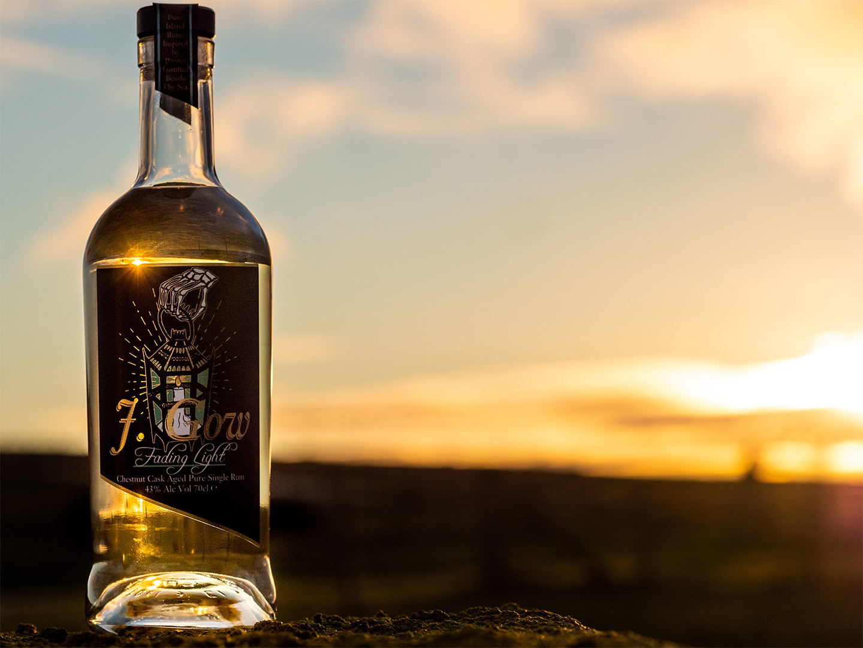 J Gow Fading Light Scottish chestnut cask aged rum