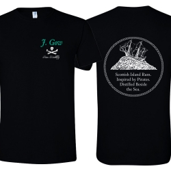 J Gow Scottish rum distillery logo t shirt