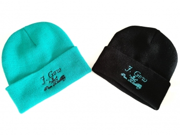 J. Gow Scottish rum distillery embroidered logo beanie hat