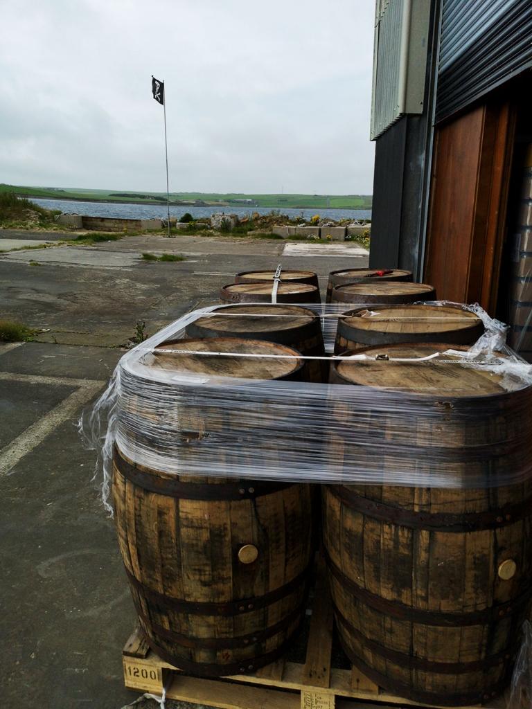 J Gow scottish rum distillery bourbon cask delivery
