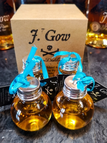 J. Gow Spiced Rum baubles