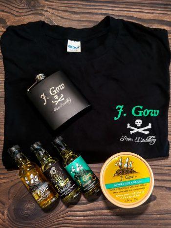 J gow pirate bundle 3 mini scottish rums and merch