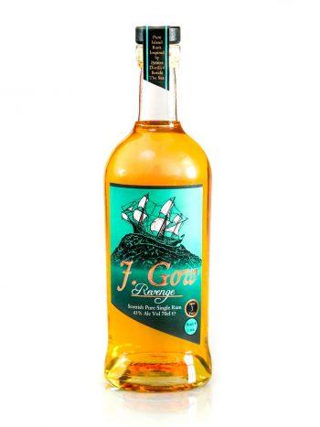 J. Gow revenge 3 year old Scottish rum white background